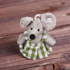 "Soft toy-suspension ""Mouse"" clothes in the box, the colors and types MIX R-24631ABCDF"