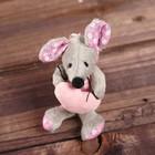 """Мягкая игрушка-подвеска """"Мышка с розовым сердцем """" цвета МИКС   0436099AB"""