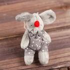 Мягкая игрушка-подвеска «Мышонок», одежда в горох, цвета и виды МИКС