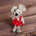 Мягкая игрушка-подвеска «Серая мышка», одежда МИКС