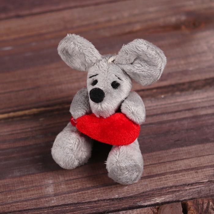 Подвеска «Мышонок с сердцем в лапках», виды МИКС