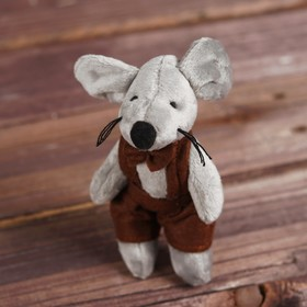 "Soft toy-suspension ""little mouse"" clothing MIX R-11528ABCD"