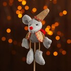 """Soft toy on a stick """"mouse in hat"""" color MIX R-153224ABCD"""
