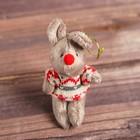 """Мягкая игрушка-подвеска """"Серая мышка в свитере"""" цвета МИКС  CS-181119ABCD"""