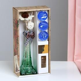 "Gift set ""Eiffel tower""(2 sticks, 3 candle ,decor,essential oils 30 ml), sandal NG"