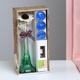 "Gift set ""Eiffel tower""(2 sticks, 3 candles ,decor,fragrance oil 30ml), Jasmine 8M"