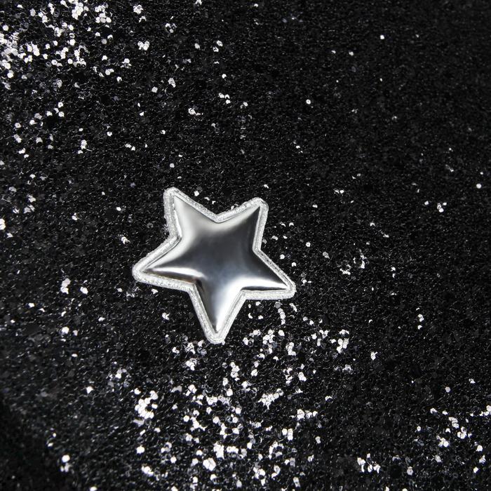 Ткань для пэчворка декоративная кожа с крупными блестками «Звездная ночь», 50 х 70 см