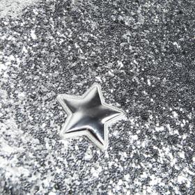 Ткань для пэчворка декоративная кожа с крупными блестками «Лунный блеск», 50 х 70 см