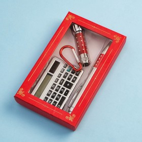 3in1 gift set (pen, calculator, flashlight)