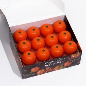 Новогодний бальзам для губ 'Мандаринка' с ароматом апельсина, 12 г Ош