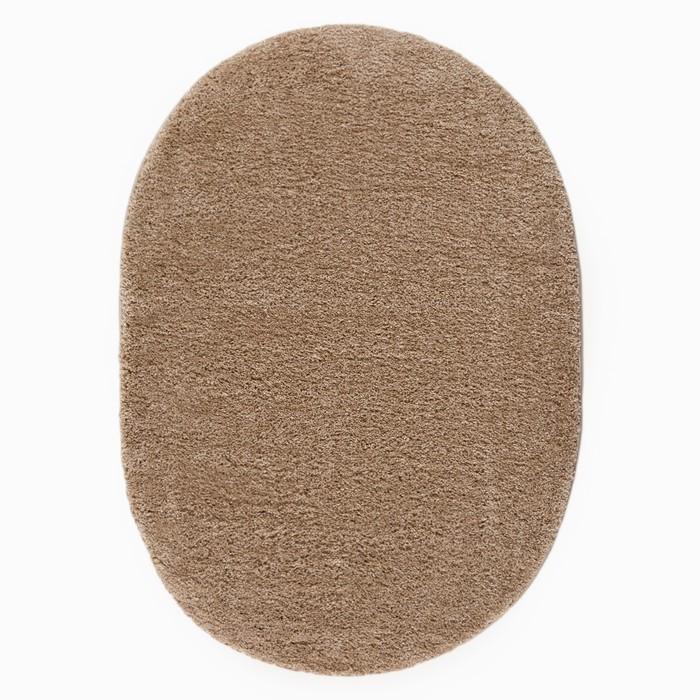 Ковёр Фризе «Шегги», цвет светло-кофейный, овал 80х150 см - фото 786667