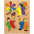 Модель деревянная сборная «Клоуны»