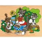 Модель деревянная сборная «Кошка с котятами»