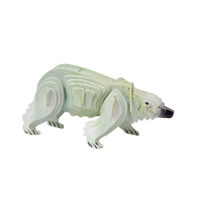 Модель деревянная сборная «Белый медведь»
