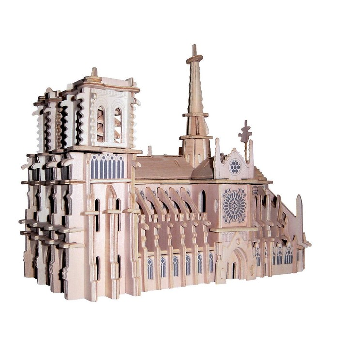 Модель деревянная сборная «Собор Парижской Богоматери»