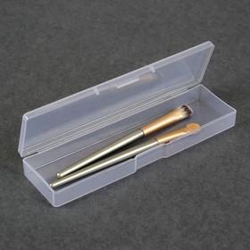 Контейнер для хранения косметических принадлежностей, 16,5 × 4,5 ×2,2 см, цвет прозрачный Ош