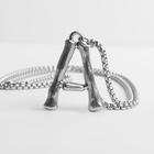 """Кулон стальной """"Буква А"""", цвет серебро, 70 см"""
