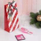 Подарочный набор «Новый год - Лама», 2 предмета: зеркало, массажная расчёска