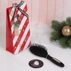 Подарочный набор «Новый год - Единорожка», 2 предмета: зеркало, массажная расчёска