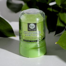 Дезодорант кристаллический U&I с зеленым чаем и алоэ вера, 45 г