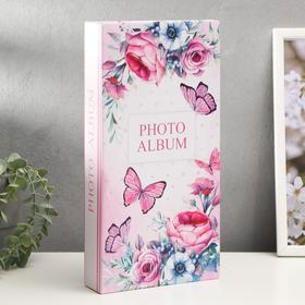 "Фотоальбом на 300 фото 10х15 см ""Бабочки и цветы"" 33,5х17,5 см"