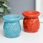 """Ceramic oil burner """"Snowdrops"""" MIX 7х6х6 cm"""