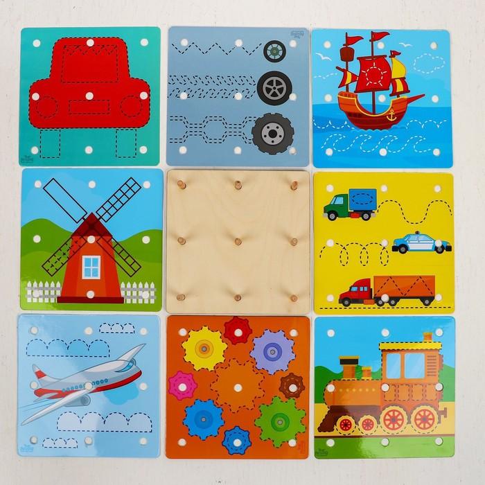 Геоборд с карточками «Пиши-стирай. Транспорт»