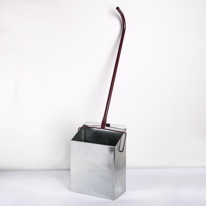 Совок для мусора-ловушка, 33×24×13 см, L=70 см, оцинкованный
