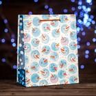 Пакет подарочный «Снеговички», 18 х 22,3 х 10 см