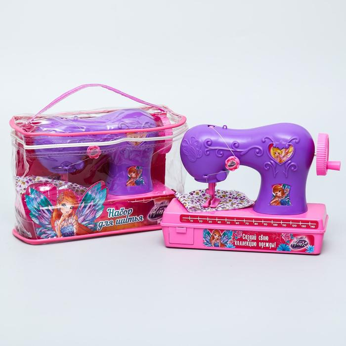 Швейная машинка, набор для шитья, феи WINX
