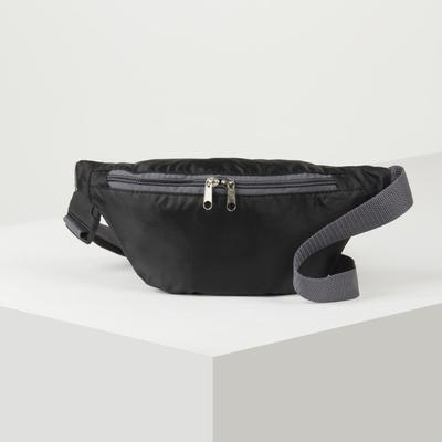 Bag on the belt 296899, 27*14*7, otd zipper, no pocket, black