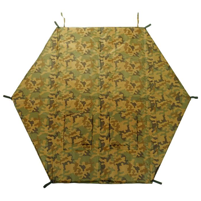 Пол для зимней палатки, 6 углов, 180 × 180 см, цвета микс