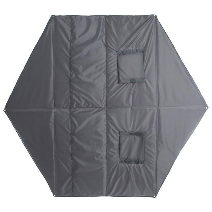 Пол для зимней палатки, 6 углов, 220 × 220 мм, цвета микс