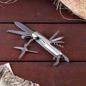 Нож швейцарский 11в1 с фонариком в Донецке