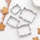 Набор форм для вырезания печенья «Рамка для пожелания», 4 шт