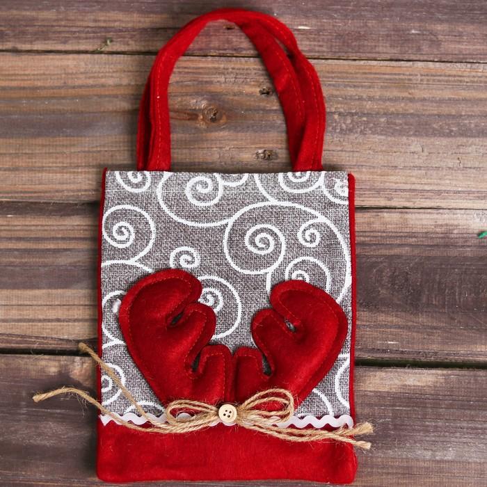 Сумочка для подарков «Новогодняя», цвета МИКС