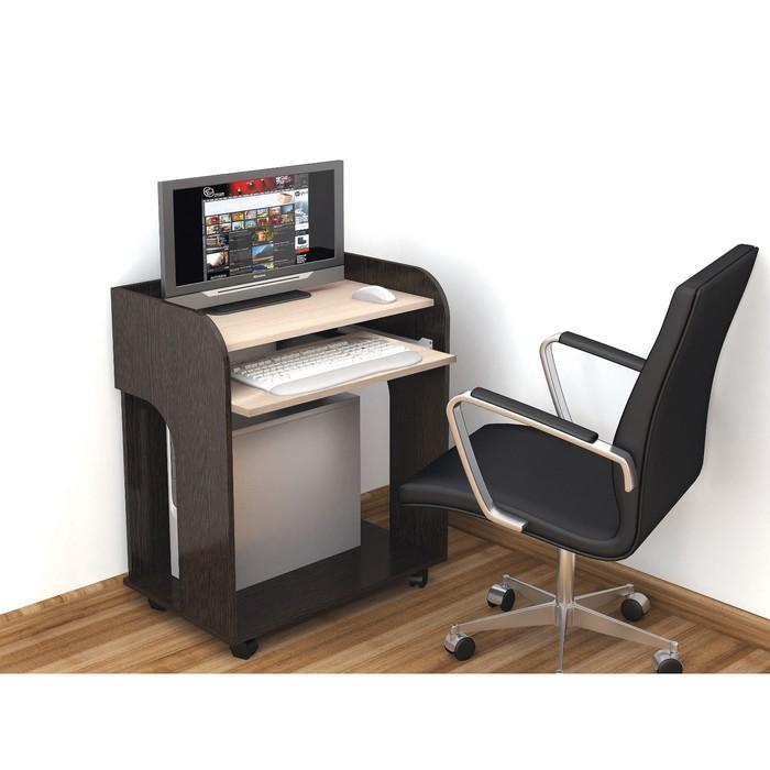 Компьютерный стол Грета-10 700х450х820 венге/дуб молочный