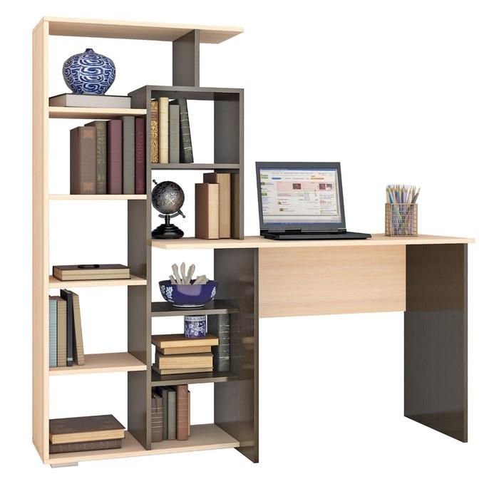 Компьютерный стол Квартет-4 1510х500х1500 венге/дуб молочный