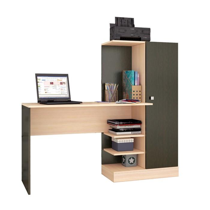 Компьютерный стол Квартет-6 1450х500х1350 венге/дуб молочный