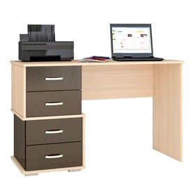 Письменный стол Сити-2 1200х500х750 дуб молочный/венге