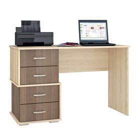 Письменный стол Сити-2 1200х500х750 дуб сонома/ясень шимо темный
