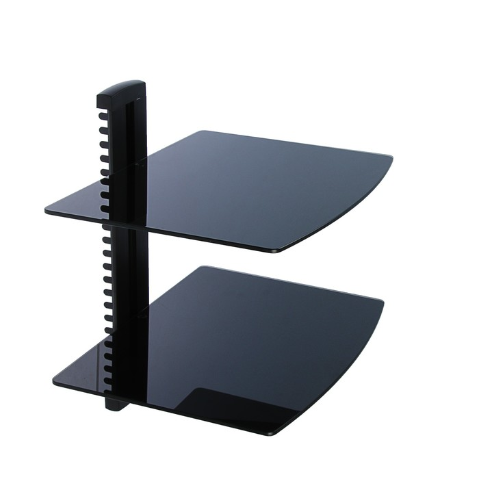 Кронштейн Trone DVD-20, для аудио-видео аппаратуры, 2 полки, до 2х8 кг, 380х280 мм, черный