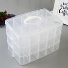 """Пластиковый органайзер WRMK """"3Tier Snap Box"""""""