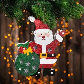 """Декор с подсветкой """"Дед мороз с мешком"""" 2,2×21×25 см"""