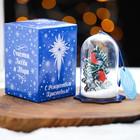 Сувенир рождественский со снегом «Снегирь»