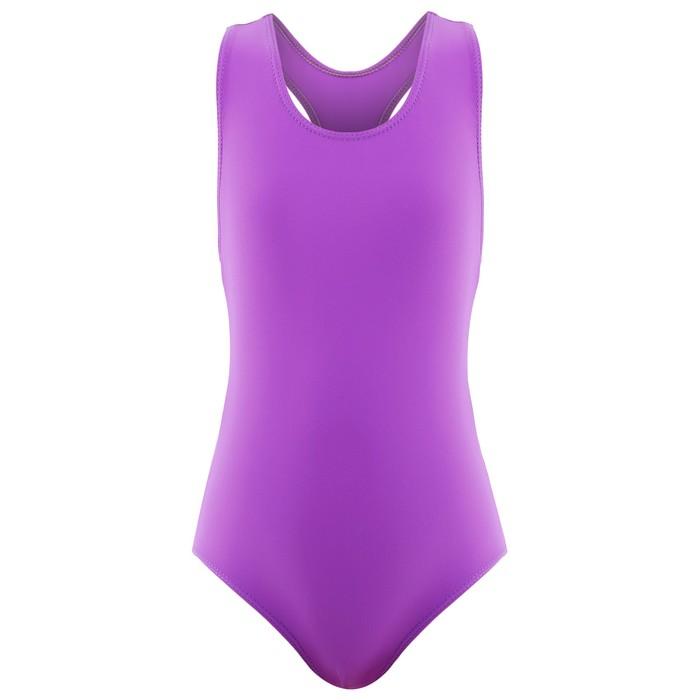 Купальник для плавания сплошной, фиолетовый, размер 28