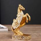 "Polyresin souvenir ""the Golden horse on dybah"" MIX 12,5x8,3x3,8 cm"