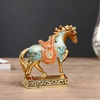 "Souvenir Polyresin ""the Horse is Golden in color blanket"" 10,5x10,5x3,4cm"