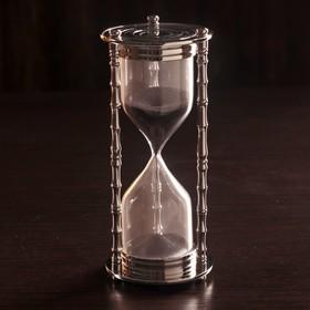 """Песочные часы """"Маеджа"""" латунь, алюминий (5 мин) 8х8х17 см"""