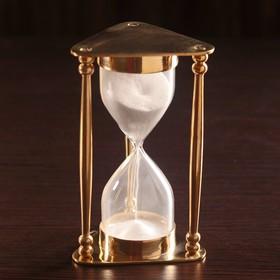 """Hourglass """"Melanta"""" brass, glass (5min) 8x8 5x14,5 cm"""